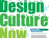 Design Culture Now Poster Designs