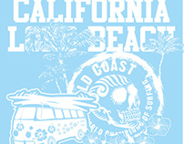 california long beach vector art