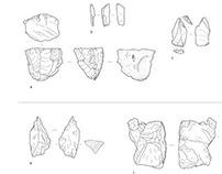Archaeological flint illustration