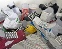 Sneaker Paper Toy   Jordan Five