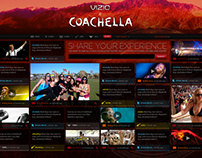 Coachella Microsite for VIZIO.