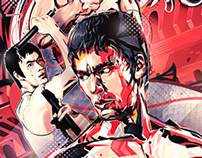 bruce lee poster for  dzxtinktoriginals