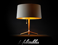 Oak wood Table Lamp