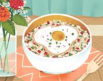 Quinoa Food Illustration