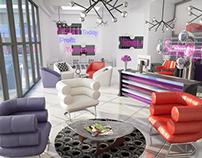 Sexy Sassy Design Reception VIZ. 3Ds Max & Vray