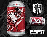 Rótulo Cerveja Conti -Especial Super Bowl NFL / ESPN