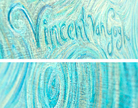 Vincent van Gogh Chalkboard