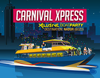 Carnival Xpress Xclusive Boat Party Poster