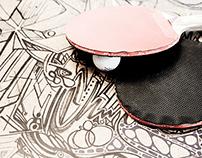 Collaborative Drawings Ping Pong Table