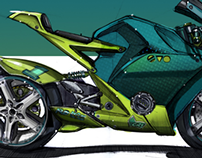 Moto Car coloring