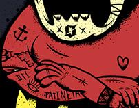 """La calaca, Ilustración para """"SOF inc"""" by Fidel Skuller"""