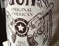 Gunslinger Barbeque Sauce Package Design