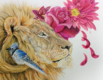 Friends, The Lion and the Blue Jay