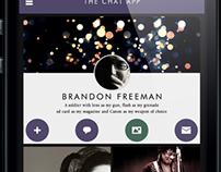 Decent Flat Design Profile Screen