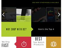 A Flat e-commerce site
