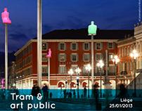 Tram & art public