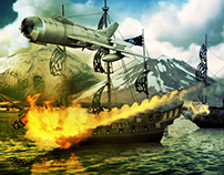 Matte painting - Wars of Caribbeans