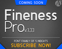 """Preview """"Fineness Pro"""" Font Family"""