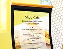 Shop Cafe Signage