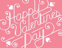 Valentine's Day Custom Typography