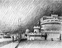 Pencil Drawings of Rome