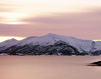 Ofotfjorden Sunset Long term exposure