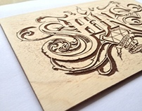 SHINE (hand-made lettering)