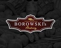 "Logo for ""BOROWSKI's"" Bakery"