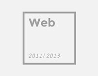 Web design 2011 / 2013