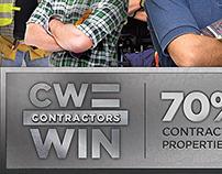 """CW = Contractors Win"" Campaign"