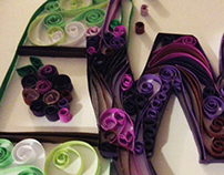 Quilled Typography