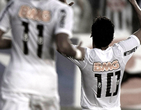 Santos FC - Centennial jersey number typography