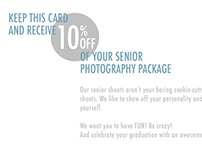 Promotional Postcard for Lucero Photography, Inc.