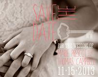 """Save The Date"" Postcard Design"
