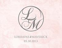 L&M Wedding Logo