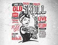 Old Skull . Little Rude Girl flyer