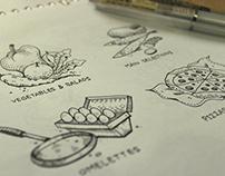 Tizi Restaurant Menu Illustration