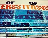 Of Monsters And Men Letterpress Poster