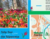 Vouwkaart vaar- en fietsroute 'Tulpenroute'