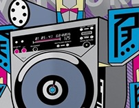 illustration for a dj mix Andre Weiss