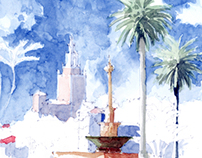 Watercolors & Sketches of Coral Gables
