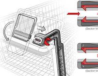 Shopping Cart iPad Mount