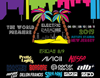 Electric Paradise Lineup Poster