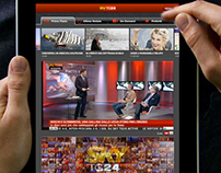 Sky Tg24 Ipad application: Home page