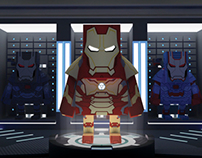 IRONMAN 3 RETURN WITH PAPERTOY
