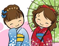Little girls around the world