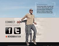 BT - album cover and website