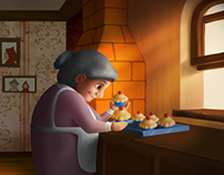 Granny is cooking