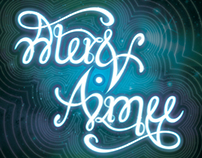"""""""Alex & Aimee"""" Ambigram Print in Frame"""