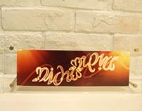"""""""Micha - Eva"""" Ambigram Print in Frame"""